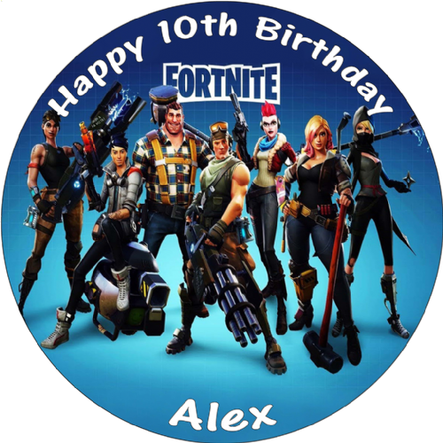 FORTNITE GAME PERSONALISED BIRTHDAY CAKE EDIBLE TOPPER